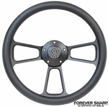 Black Volkswagen VW 1974-93 Steering Wheel Set Beetle Golf Bus Fox w/ Boss Kit