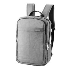 16 Inch Laptop Messenger Bag Shoulder Backpack Multi-Functional Briefcase Grey