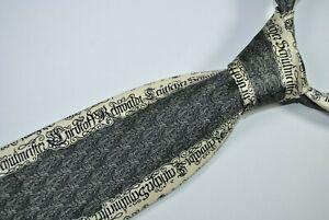 GIANFRANCO FERRE Tie MADE IN ITALY 100% Silk Silver Color L60 W3.5