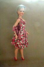 "Sonia Ottolini Vintage 25"" Italian Fashion Doll 1960s Original Dress Ash Blonde"