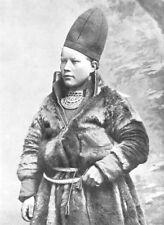 ARCTIC. Lapland. A Laplander;  1900 old antique vintage print picture