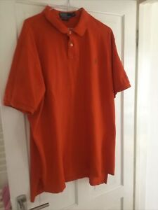 Polo Ralph Lauren Men's Orange Polo Shirt 3XL. XXXL Custom Fit