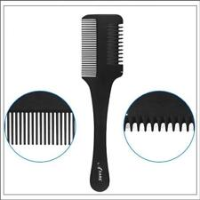 Hair Razor Comb Handle Shaving Cutting Thinning Comb Tool With Blade&