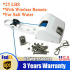 Boat White Electric Anchor Winch Marine With Remote Control For Saltwater 25 Lbs