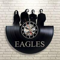 Eagles Rock Music Retro lp Vinyl Record Wall Clock Vintage Room Art Gift For Him