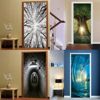 3D Self-adhesive Door Stickers Wall Mural Decals Wallpaper Vinyl Art Home Decor