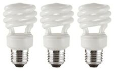 x 3 GE 12w (=57w) Long Last Spiral Compact Fluorescent Lamps - 4000k / E27