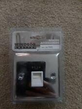 Windsor Master Telephone Socket in polished Chrome with White Insert 1 gang