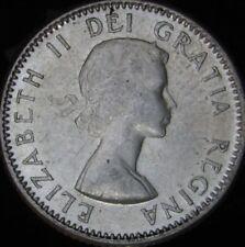 1956 AU Canada Silver 10 Cents - KM# 51 - JG