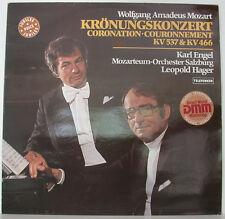 """MOZART KRÖNUNGSKONZERT KARL ENGEL MOZARTEUM SALZBURG LEOPOLD HAGER 12"""" LP (f282)"""
