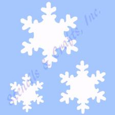 "SNOWFLAKE STENCIL SNOWFLAKES STENCIL CHRISTMAS SCRAPBOOK TEMPLATE NEW 4""X 5"""