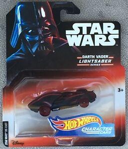 Darth Vader Lightsaber Series Hot Wheels Star Wars Character Cars - MIP