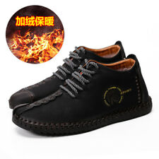 Men Casual Shoes Leather Soft Leisure Mens Loafers Adults  Breathable Footwear