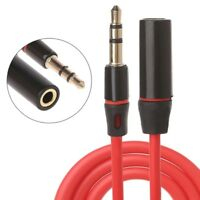 3.5mm Male To Female 3-Pole Jack Stereo Plug Audio Aux Extension Cable Cord 1.2m