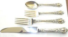 1 CHARLES 11 LUNT STERLING REAL DINNER SIZE PLACE SET NO MONO GORGEOUS POLISHED