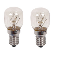 2 x 25w Universal oven lamps 240v 300° Heat resistant. SES (E14)