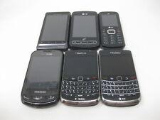 Lot of 6 Verizon Cell Phones - Blackberry Bold x2 Samsung LG Motorola