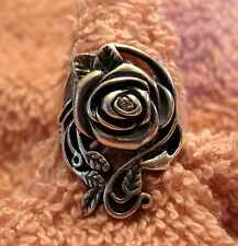 Avon Sterling Silver Ring size 11 Rose on the Vine Rhinestone Accent NEW Gr8Gift