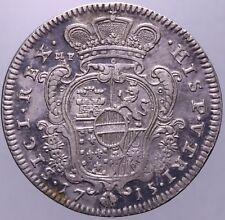 MEZZO DUCATO 1715 NAPOLI BB-SPL NC - CARLO III (POI VI) - PERIZIATA GRIMOLDI