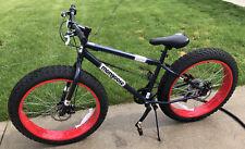 Dolomite Mens Fat Tire Mountain Bike, 26-Inch Wheels, 4-Inch Wide Navy Blue
