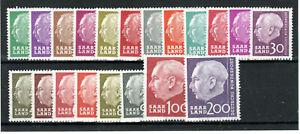 Germany - Saar 1957 President Heuss set to 200f MNH