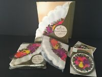 Hallmark Vintage Round Napkins and Coasters Made in USA Some NIP 5 Packages