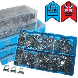 Mini Fuel Line Clips Jubilee Hose Pipe Clamps For Air Petrol | Assortment Boxes