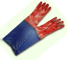 """1 PAIR PVC Work Gloves Long Gauntlets Waterproof DRAIN FISHING 24"""" 60 CM"""