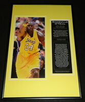 Shaquille O'Neal LA Lakers Framed 12x18 Photo Display