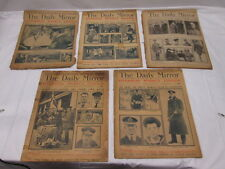 1916 1917 1918 1919 The Daily Mirror Newspaper 4 total w/1 Cover Overseas Weekly