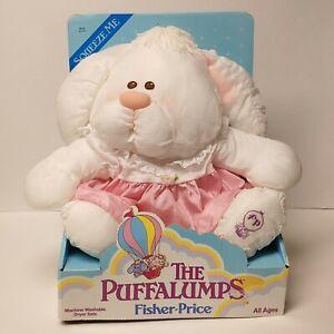 vtg 1987 Puffalumps white bunny rabbit Fisher Price MIB 80's plush toy new #8019