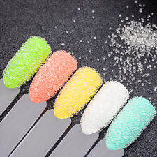 10g Caviar Beads Nail Art Decorations Transparent Solid Rainbow Acrylic Pearls