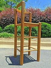 Oak & Rush Bentwood Corner Chair / bar stool