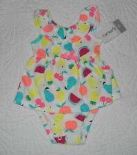 Carter's Girls Size Newborn~One Piece Summer Romper Various Fruits~NWT $18