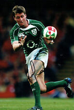 Ronan O'GARA Signed Autograph 12x8 Photo AFTAL COA Ireland Rugby Union