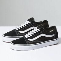 New Femmes Vans Old Skool Skate Noir Chaussures Shoes Classic canvas suede Toute