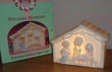 Precious Moments Nativity Christmas porcelain Holiday Night Light w/Box