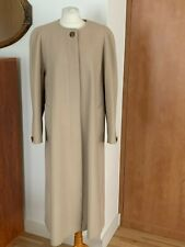 L.A.S London Women's Tan/Camel Beige Virgin Wool/Cashmere Coat Size 16