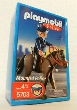 Playmobil Mounted Police 5703 von 2002 Neu & OVP US-Version Polizist mit Pferd