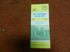 Fort Abercrombie North Dakota Fold Out Travel Brochure 17 X 10 3/8