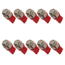 10X T10 194 168 147 W5W 5 SMD 5050 LED Voiture LED rouge clignotant Lampe