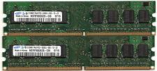 2 barrettes SAMSUNG 512 PC2-5300 soit 1gb DDR2-667 au total