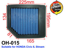 High-Flow Drop-In Simota Air Filter for Honda CIVIC 8, STREAM, OH-015