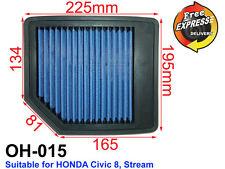 High-Flow Drop-In Simota Air Filter for Honda CIVIC 8, STREAM, OH-015