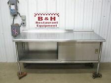 72 X 30 Stainless Steel Heavy Duty Work Table One 1 Door Kitchen Cabinet 6