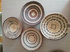 Set of 4 Binga Tonga Baskets Africa Wall decor 13.4 inch