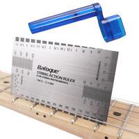 Professional Steel Guitar Action Gauge Ruler Measuring Luthier & String Winder