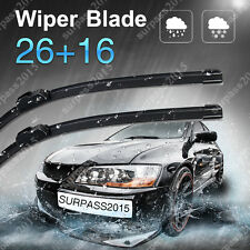 "26"" + 16"" Premium Hybrid silicone Windshield Wiper Blades OEM J-Hook New"