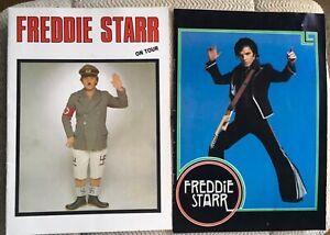 VINTAGE FREDDIE STARR PROGRAMMES WITH TICKETS ( 2 ) LONDON PALLADIUM & DUBLIN