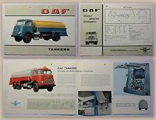 Prospekt Broschüre DAF Tankers Van Doorne um 1970Tankwagen Laster Oldtimer xz